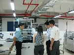 Picture GPS hands over cleanroom